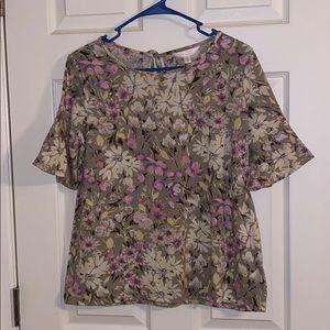 Lauren Conrad Floral Blouse Size Medium